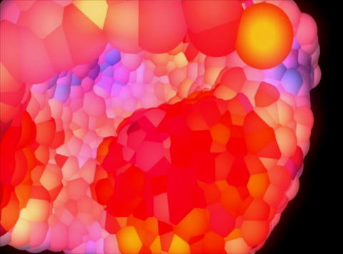 VJ Loop 411 3D Balls Pink Glow 19s Stock Video Footage
