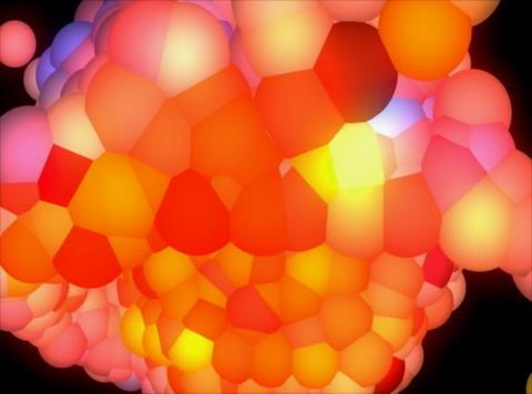 VJ Loop 411 3D Balls Pink Glow 19s Stock Video Footage