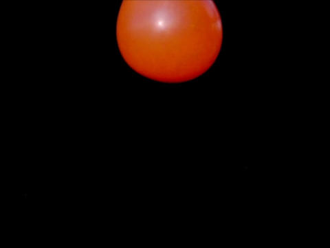 Balloon Bounce Orange 01 Loop 30per Stock Video Footage