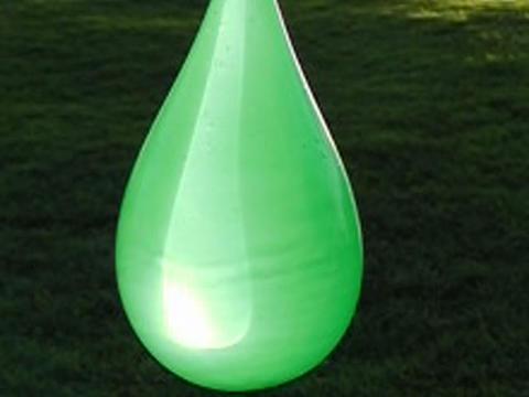 Balloon Explosion Green 02 60% Stock Video Footage