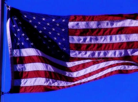 American Flag 01 Loop Stock Video Footage
