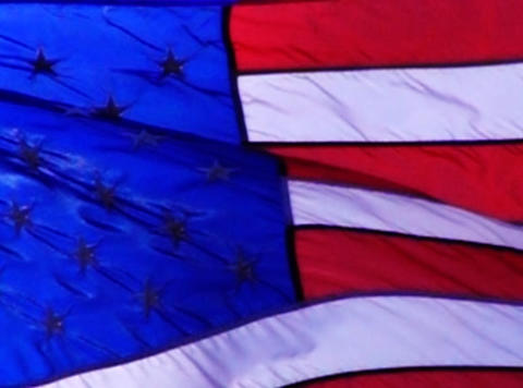 American Flag 011 Loop Stock Video Footage