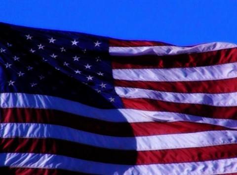 American Flag 03 Loop Stock Video Footage