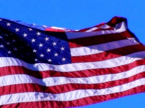 American Flag 05 Loop Stock Video Footage