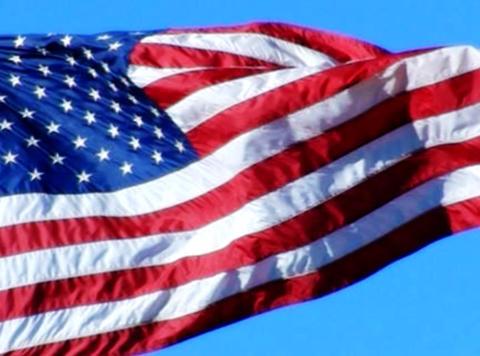 American Flag 07 Loop Stock Video Footage