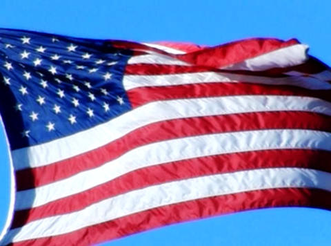 American Flag 07 Loop Stock Video Footage