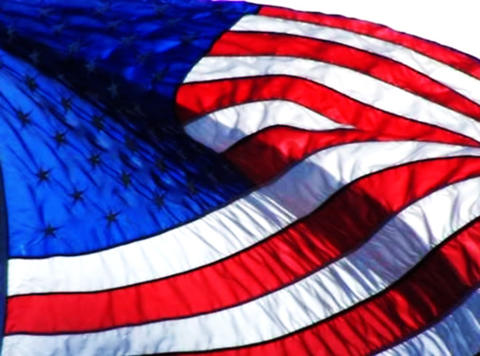 American Flag 09 Loop Stock Video Footage