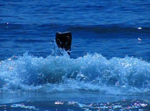 Bikini Girl 02 Playing in ocean waves Stock Video Footage