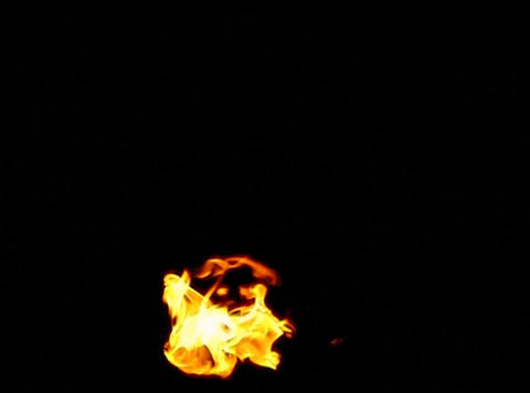 Fire 017 Blow up Low Loop Stock Video Footage