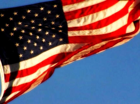 American Flag Sunset 02 Loop Stock Video Footage