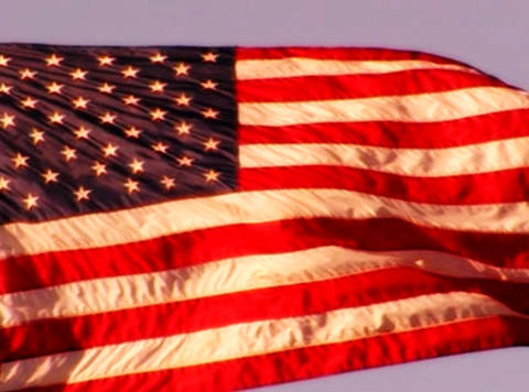 American Flag Sunset 04 Loop Stock Video Footage