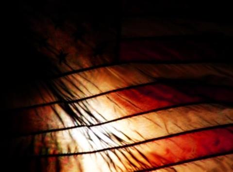 American Flag Sunset 06 Loop Stock Video Footage