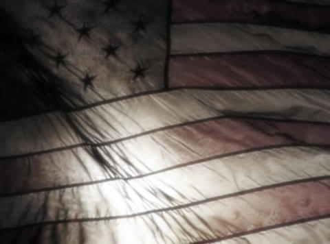 American Flag Sunset 08 Loop Stock Video Footage
