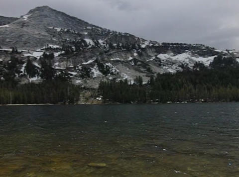 Tenaya Lake 2 Pan Stock Video Footage