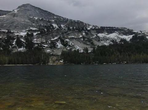 Tenaya Lake 2 Pan Stock Video Footage