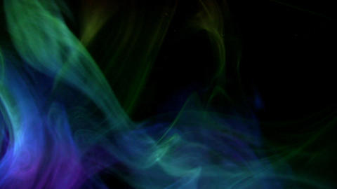Colourful smoke aurora Stock Video Footage