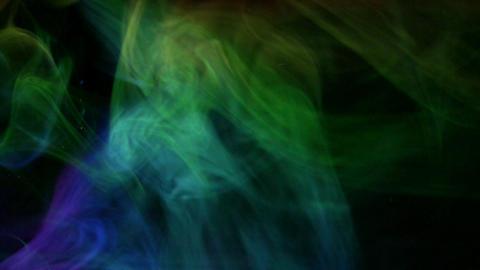 Colourful smoke aurora Stock Video Footage