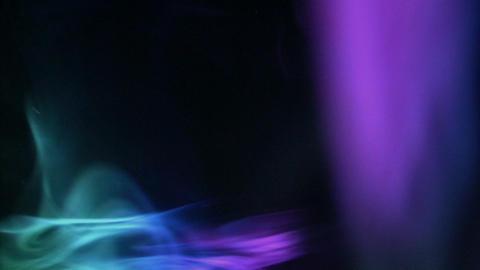 Looping smoke aurora Stock Video Footage