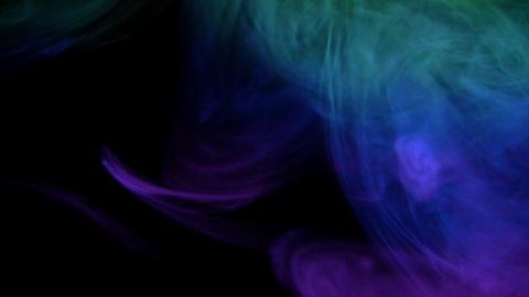 Multi-colour smoke aurora Stock Video Footage