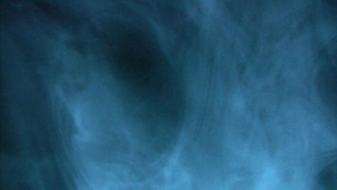 Blue smoke fading off Stock Video Footage