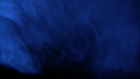 Dark room covered with bluish smoke Footage