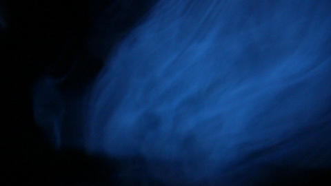 Blue smoke in the dark Footage