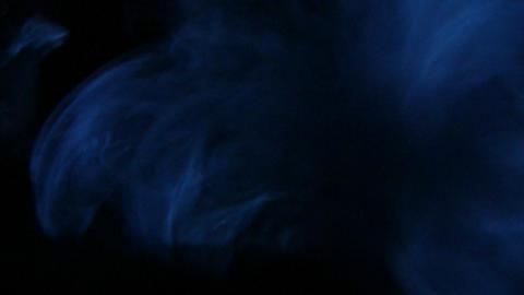 Blue smoke in the dark Stock Video Footage