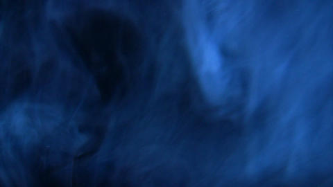 Blue smoke in the dark Stock Video Footage