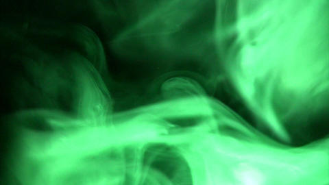 Smoke Green 02 Loop Stock Video Footage