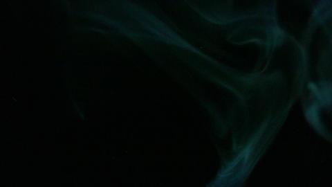 Smoke Green Blue 01 Loop Stock Video Footage
