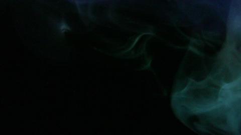 Smoke Green Blue 03 Loop Stock Video Footage