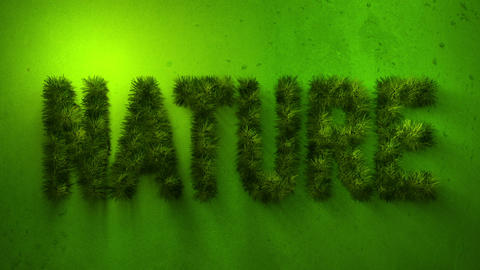 Nature word made of grass Animation