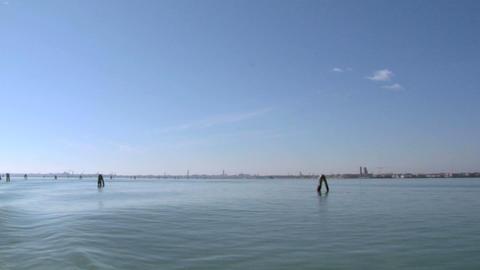 venetian lagoon 04 Stock Video Footage