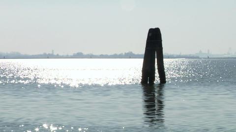 venetian lagoon 06 Stock Video Footage