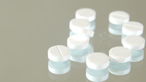 White Pills Falling stock footage