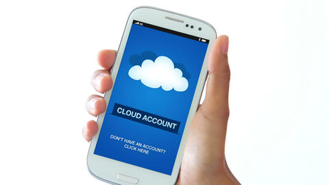 Cloud Account Stock Video Footage
