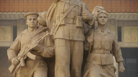 china beijing revolutionary martyrs memorial sculpture,communism Footage