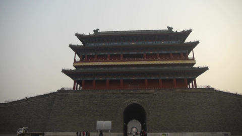 china Beijing ancient city gate tower & arch,Gorgeous... Stock Video Footage