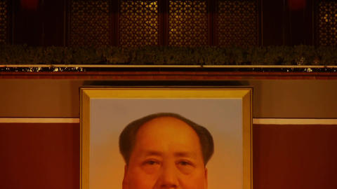 closeup china beijing Tiananmen national emblem &... Stock Video Footage