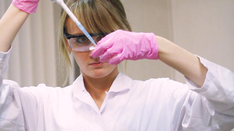woman in laboratory Footage