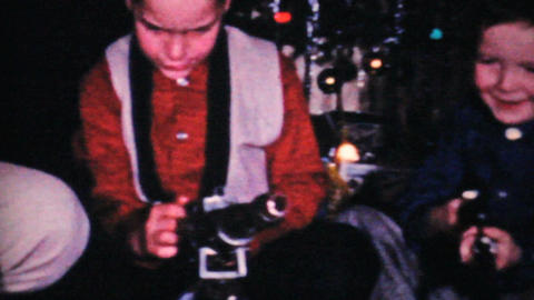 Boys With Guns At Christmas 1964 Vintage 8mm film Stock Video Footage