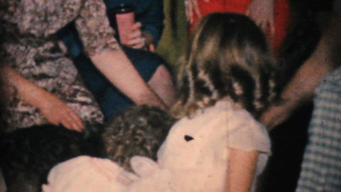 Feeding A Dog At The Party 1964 Vintage 8mm film Stock Video Footage