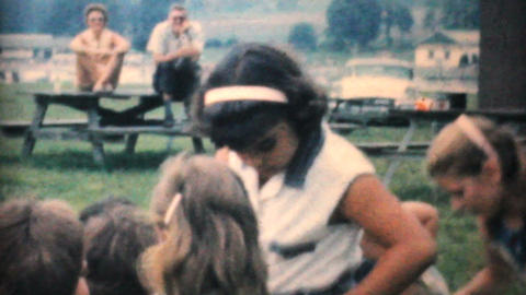 Kids At A Candy Scramble In The Park 1964 Vintage 8mm film Footage