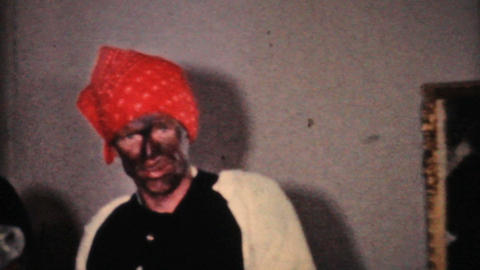 Kids In Crazy Halloween Costumes 1964 Vintage 8mm film Stock Video Footage