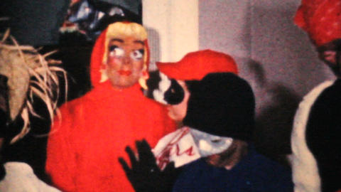 Kids In Crazy Halloween Costumes 1964 Vintage 8mm film Footage