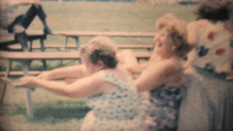 People Doing A Tug Of War At The Park 1964 Vintage 8mm film Footage