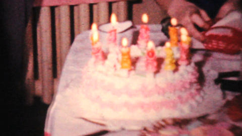 Girl Celebrates Her 10th Birthday 1964 Vintage 8mm film Footage