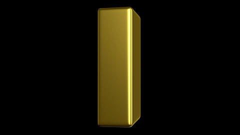 turning gold bar Stock Video Footage
