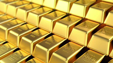 stock of gold Animation