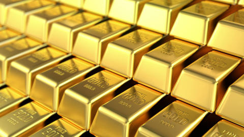 stock of gold Stock Video Footage